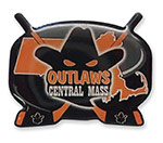 Central Mass Outlaws Hockey Trading Pin