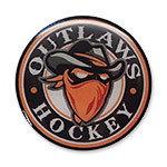 Outlaws Hockey Trading Pin