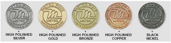 Plating Options | Metal Trading Pins & Coins by Metro Pins