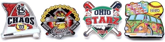 fastpitch softball pins