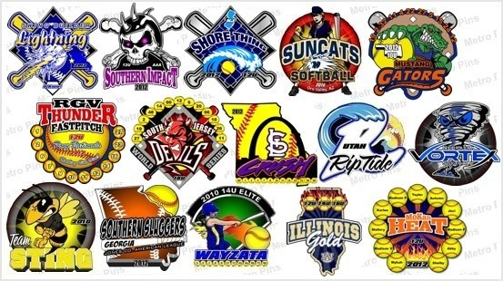 Hasil gambar untuk Trade Softball Pins at the Big Tournament